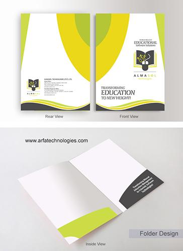 Decorative file folders design, creative company folder design